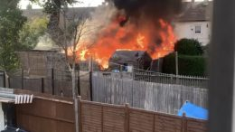 Propane gas cylinder explodes in garden shed in Harrow Weald